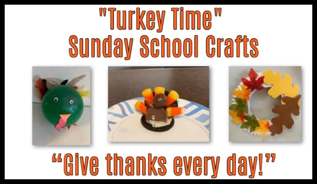 Thanksgiving Turkey Crafts for Sunday School