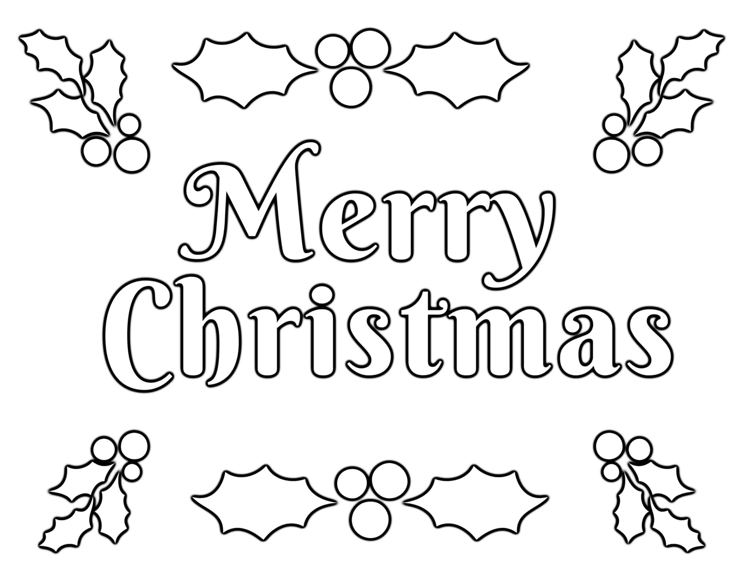 Holiday wreath coloring page poster or embroidery pattern. Merry ... | 1978x2560