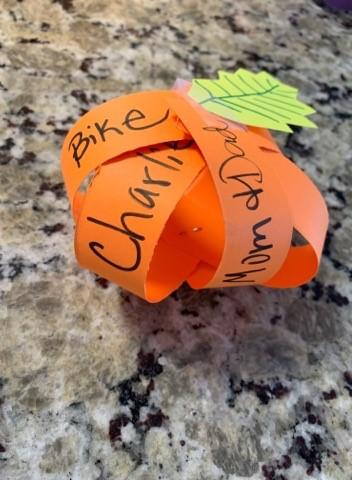 Thankful Pumpkin Craft for Thanksgiving