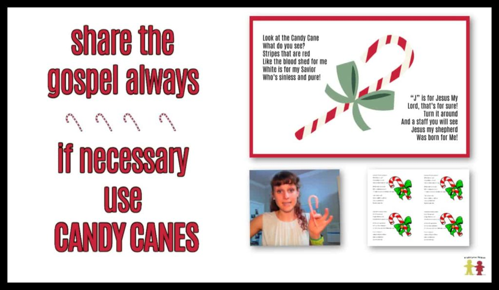 candy cane printable to share during your advent sermons