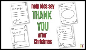 Christmas Thank You Cards Coloring Page