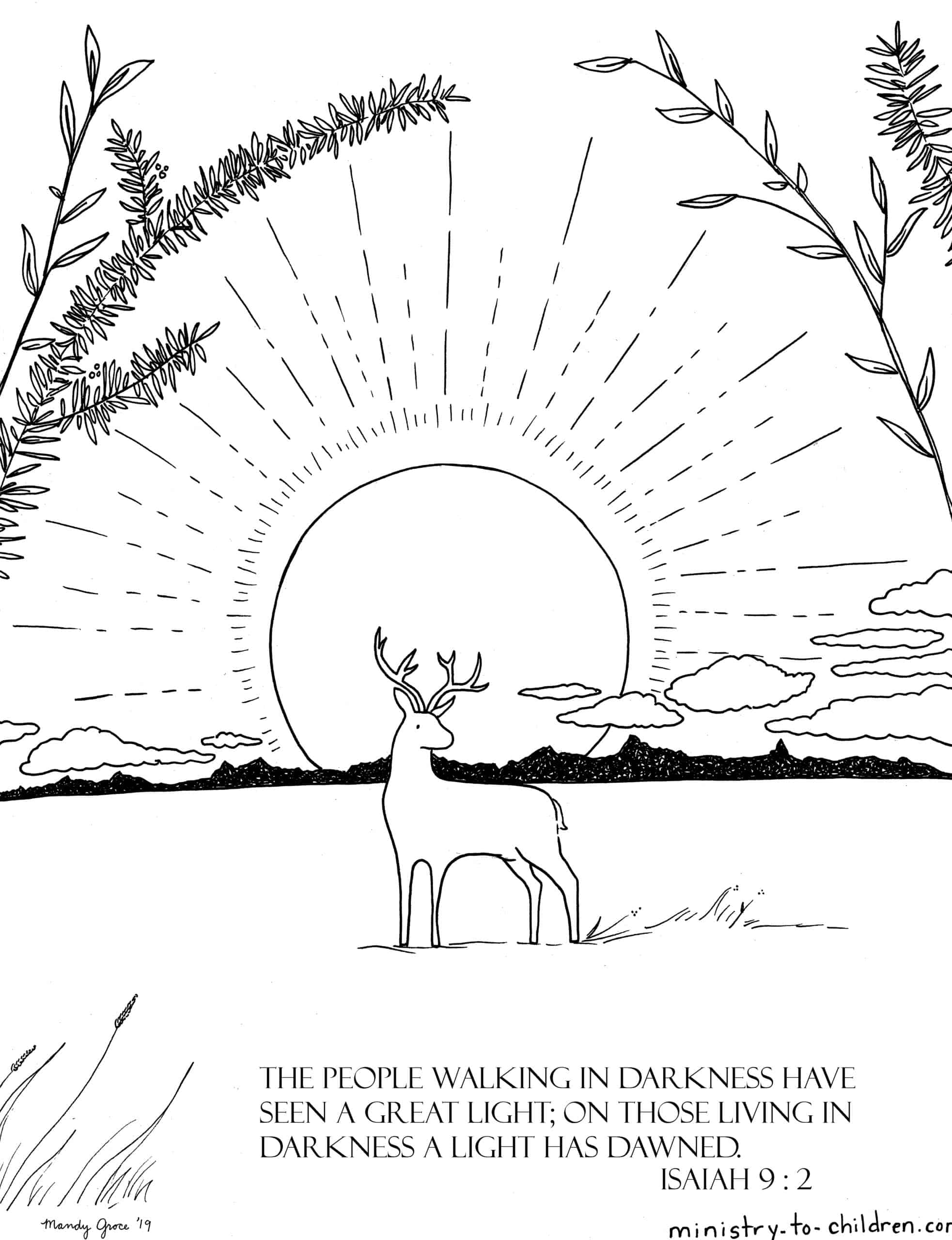 Isaiah 9 Coloring Pages People In Darkness Have Seen A