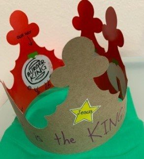 Jesus is the King Crown Craft project for children