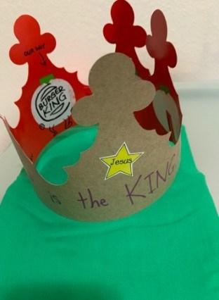 Jesus is King Crown Craft
