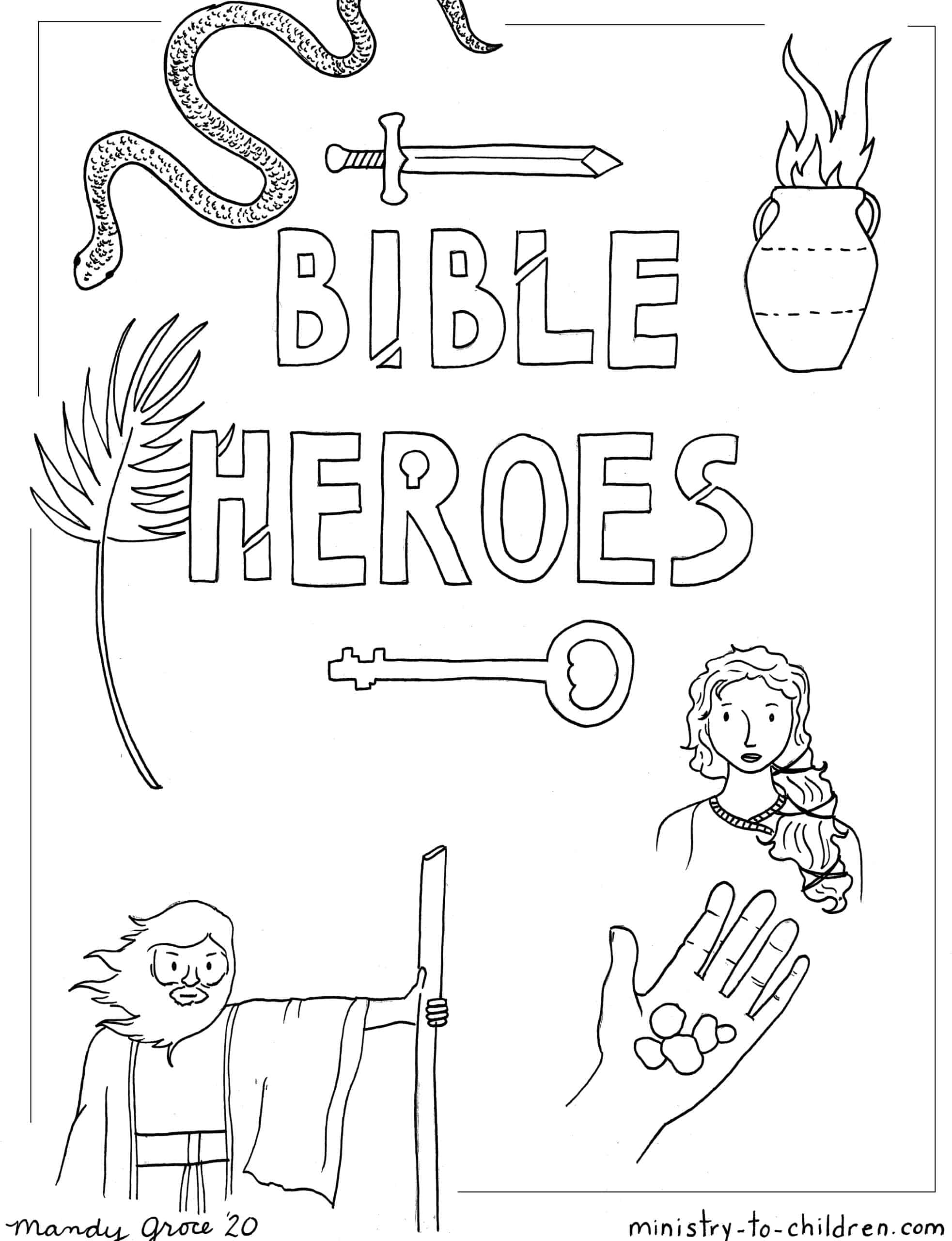 Bible Heroes Coloring Page Ministry To Children