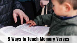 5 Ways to Teach Children Bible Verses