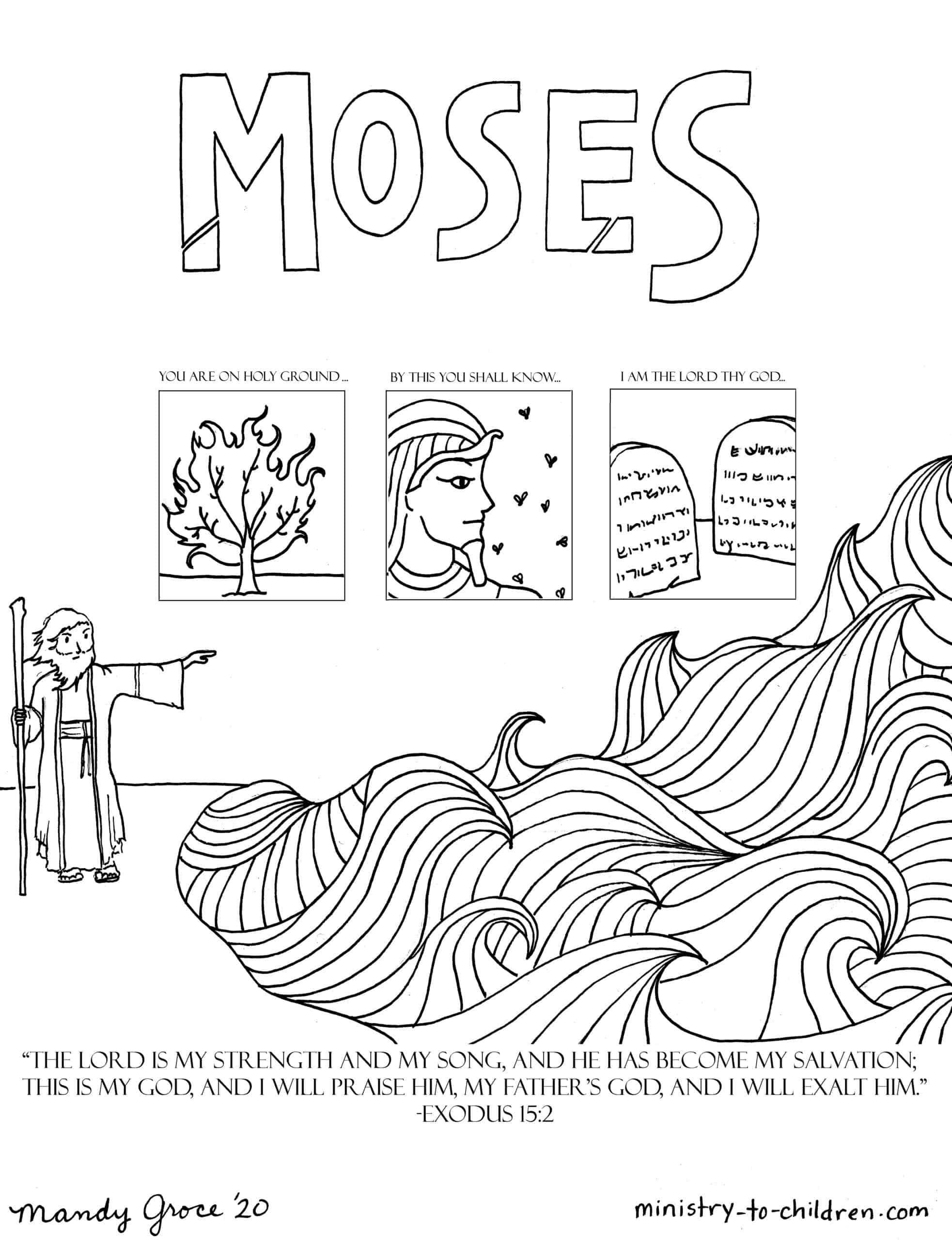 Moses Coloring Page Ministry To Children