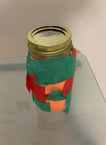 """Craft Two: """"Stained glass light in a jar"""""""